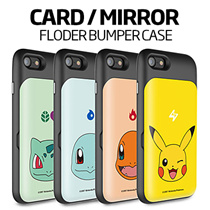 ★正規品★PokemonキャラクターFolder Card / Mirror Bumper ケース 手帳型★iPhone7/Plus/6/6S/5S/SE/Galaxy S7/Edge/Note5