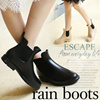 サイドゴアレインブーツ♥ 雨の日コーデ 雨靴 レインブーツ 梅雨 ブーツ サイドゴア レインシューズ  長靴