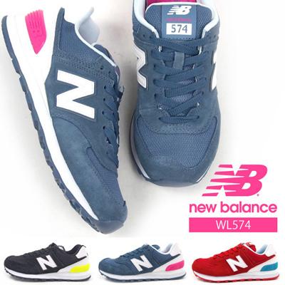 【送料無料】newbalanceニューバランススニーカーレディース全3色WL574CANCNBCNCローカットカジュアルローカットウォーキングジョギングスエード軽量女
