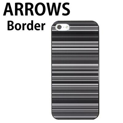 特殊印刷/ARROWS NX(F-02G)/ARROWS NX(F-05F)ARROWS A(301F)ARROWS NX(F-06E)ARROWS NX(F-01F)らくらくスマートフォン(F-09E)(モノクロボーダー )CCC-087【スマホケース/ハードケース/カバー/arrows nx f-06e】の画像