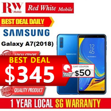 Samsung A7 (2018) 128GB+Samsung 10K PowerBank+Screen Protector+Case-Local Warranty