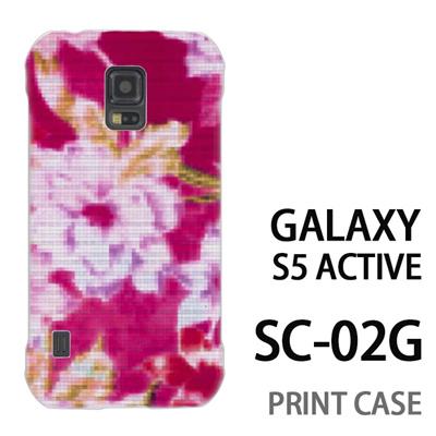 GALAXY S5 Active SC-02G 用『No3 モザイクフラワー ピンク』特殊印刷ケース【 galaxy s5 active SC-02G sc02g SC02G galaxys5 ギャラクシー ギャラクシーs5 アクティブ docomo ケース プリント カバー スマホケース スマホカバー】の画像