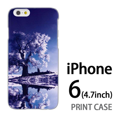 iPhone6 (4.7インチ) 用『1218 雪原の木』特殊印刷ケース【 iphone6 iphone アイフォン アイフォン6 au docomo softbank Apple ケース プリント カバー スマホケース スマホカバー 】の画像