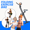 Folding Exercise Bike (Silver/Black Colour) - Easy to Use Workout Analysis: Calculates: Times-Distance-Speed-Calories (1 Month Local Warranty)