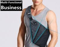Digital mens Single shoulder Camo breast bag sports leisure chest bag burglarproof armpit bag