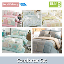 FREE DELIVERY]Single/Queen Cotton Comforter Set/Bedsheet/Made in Korea/Includes Blanket Pillow C