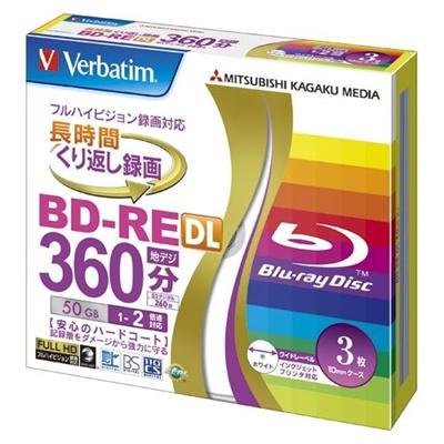 三菱化学メディア録画用BD-REDL50GB360分VBE260NP3V100021456