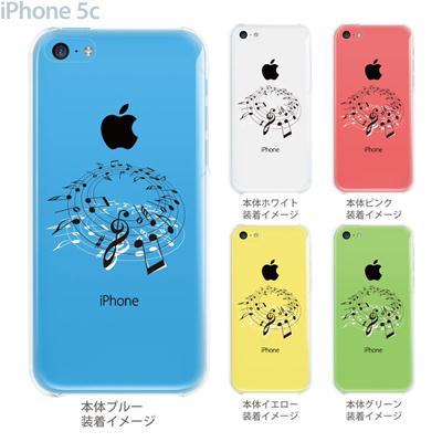 【iPhone5c】【iPhone5c ケース】【iPhone5c カバー】【iPhone ケース】【クリア カバー】【スマホケース】【クリアケース】【イラスト】【ミュージック】【音符】 09-ip5c-mu0004の画像
