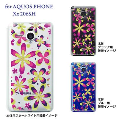 【AQUOS PHONE Xx 206SH】【206sh】【Soft Bank】【カバー】【ケース】【スマホケース】【クリアケース】【Vuodenaika】【フラワー】 21-206sh-ne0020caの画像