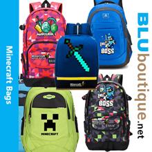 Minecraft school bag minecraft backpack minecraft haversack Minecraft bag
