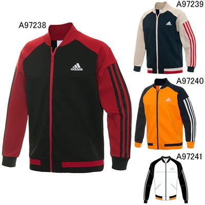 アディダス (adidas) KIDS 強ジャー ジャージ ブルゾンジャケット KBY24 [分類:ジャージ 上 (ジュニア)]の画像
