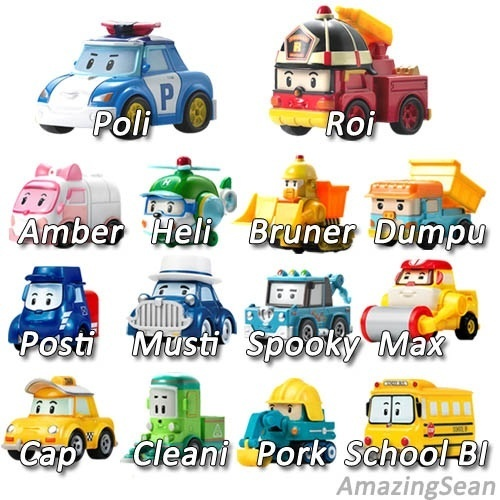 Qoo10 robocar poli diecast die casting heli roi amber robot car korea animat toys - Radio car poli ...