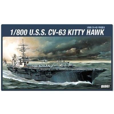 【クリックで詳細表示】[Academy] アカデミー プラモデル 14210 1/800 U.S.S. CV-63 KITTY HAWK Carrier / 送料無料
