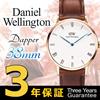 ダニエルウェリントン Daniel Wellington Dapper ダッパー 38mmレザーベルト ユニセックス 青針 [海外正規店商品]【ラッピング不可】