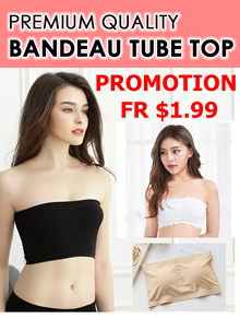 PREMIEUM QUALITY BANDEAU TUBE TOP/ MANY DESIGN