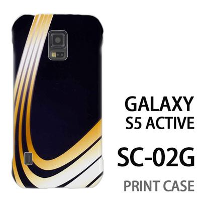 GALAXY S5 Active SC-02G 用『No3 黄色曲線4本』特殊印刷ケース【 galaxy s5 active SC-02G sc02g SC02G galaxys5 ギャラクシー ギャラクシーs5 アクティブ docomo ケース プリント カバー スマホケース スマホカバー】の画像