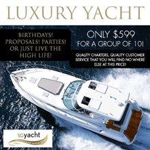 4-Hour Luxury Sevens Yacht Charter for up to 10 People at SGYacht (worth $1500). More Options Available. ★VALID FOR 6 MONTHS SO BUY NOW!★