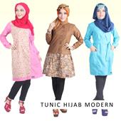 Tunic Hijab modern - Blouse tunic morinda-wurika-denisa - new koleksi busana muslim masa kini - rumah busana maizan - good quality