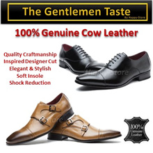 100% Genuine Cow Leather Men Shoes/ shock Absorbent Insole// Cap Toe Debry/Monk Strap/Designer style