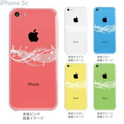 【iPhone5c】【iPhone5c ケース】【iPhone5c カバー】【ケース】【カバー】【スマホケース】【クリアケース】【ミュージック】【音符】 09-ip5c-mu0006の画像