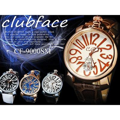 club face トップリューズ式 メンズ腕時計 全4色の画像