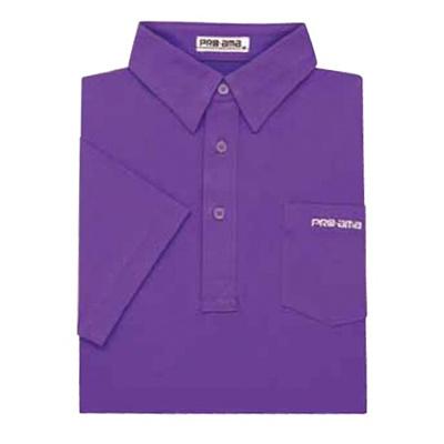 ABS(アメリカン ボウリング サービス) プレーン ポロシャツ P-540 パープル 【Pro-ama ボウリングウェア メンズ レディース ボーリング】の画像