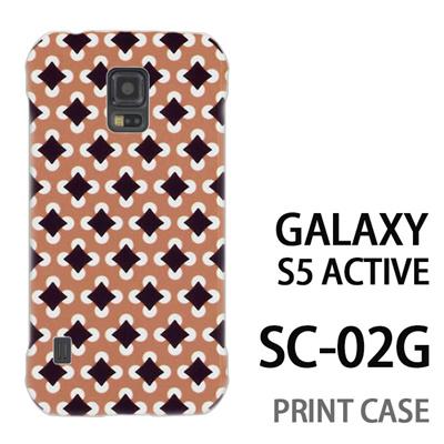 GALAXY S5 Active SC-02G 用『No3 丸四角ドット 茶』特殊印刷ケース【 galaxy s5 active SC-02G sc02g SC02G galaxys5 ギャラクシー ギャラクシーs5 アクティブ docomo ケース プリント カバー スマホケース スマホカバー】の画像