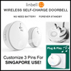 ★SG VERSION★ NO BATTERY NO ADAPTER REQUIRED! Smart Self-Charge Portable Wireless Home Doorbell