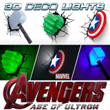 [MARVEL avengers age of ultron]DECORATION NIGHT LIGHT / TMNT 3D DECO LIGHT / NINJA TURTLES / MARVEL