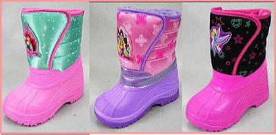 (A倉庫)ディズニー プリンセス 子供ブーツ スノーブーツ 6501 6502 6503 キャラクターシューズ キッズ ウィンターシューズ 女の子 スノトレ DN6501 DN6502 DN6503の画像