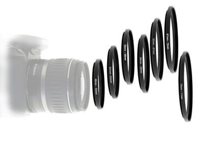【送料無料】1枚のフィルターを流用できるステップアップリング・ステップダウンリング/フィルターマウント径変換リング小口径/大口径の画像