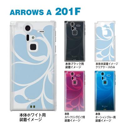 【ARROWS ケース】【201F】【Soft Bank】【カバー】【スマホケース】【クリアケース】【トランスペアレンツ】【カラーズ・ブルー】【レトロ】 06-201f-ca0031i-bの画像