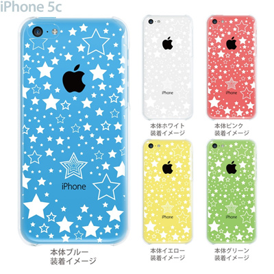 【iPhone5c】【iPhone5c ケース】【iPhone5c カバー】【ケース】【カバー】【スマホケース】【クリアケース】【クリアーアーツ】【スター】 09-ip5c-sn0004の画像