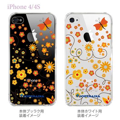 【Vuodenaika】【iPhone4/4Sケース】【カバー】【スマホケース】【クリアケース】【フラワー】 21-ip4-ne0001caの画像