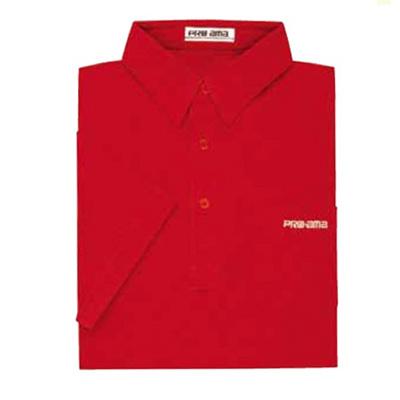 ABS(アメリカン ボウリング サービス) プレーン ポロシャツ P-544 レッド 【Pro-ama ボウリングウェア メンズ レディース ボーリング】の画像