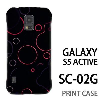 GALAXY S5 Active SC-02G 用『No3 丸模様 黒』特殊印刷ケース【 galaxy s5 active SC-02G sc02g SC02G galaxys5 ギャラクシー ギャラクシーs5 アクティブ docomo ケース プリント カバー スマホケース スマホカバー】の画像