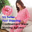 BEST BUY! Confinement pajamas pyjamas wear dress with nursing access! SOFT AND COMFORTABLE. Maternit