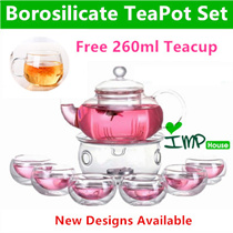 ★IMP HOUSE★[Father's Day][Glass TeaPot Set]Borosilicate Glass Tea Pot Set/Heat Resistant Glass Teapo