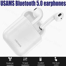 USAMS Bluetooth 5.0 earphones for iPhone Samsung Xiaomi earbuds Wireless Bluetooth headphone
