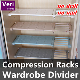 Shelving rack/Telescopic Closet Rack /under Cabinet storage rack/Wardrobe divider/Hanger/Racks/DIY