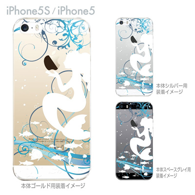 【iPhone5S】【iPhone5】【Clear Arts】【iPhone5Sケース】【iPhone5ケース】【iPhone ケース】【クリア カバー】【スマホケース】【クリアケース】【ハードケース】【着せ替え】【イラスト】【クリアーアーツ】【人魚姫】 08-ip5-ca0100aの画像