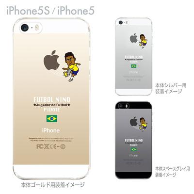 【ブラジル】【FUTBOL NINO】【iPhone5S】【iPhone5】【サッカー】【iPhone5ケース】【カバー】【スマホケース】【クリアケース】 10-ip5s-fca-bz04の画像