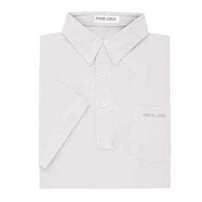 ABS(アメリカン ボウリング サービス) プレーン ポロシャツ P-547 ホワイト 【Pro-ama ボウリングウェア メンズ レディース ボーリング】の画像