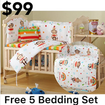 Baby cot*Bed*Cot*Baby bed*Babycot*Babybed*cradle*Baby crib*Solid Wood*Free Mosquito Net*changing mat