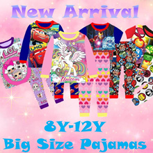 ★Mamas Luv★ New Arrival Kid Pajamas big size for boy and girl 8y-12y
