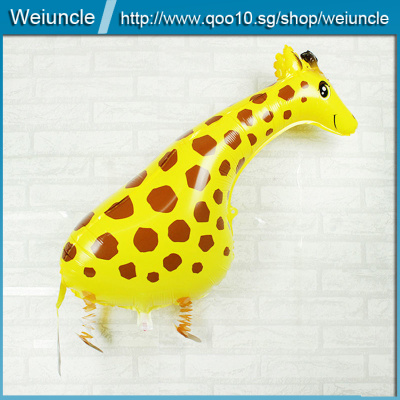 Qoo10 Kids Walking Foil Pet Giraffe Balloon Helium Children