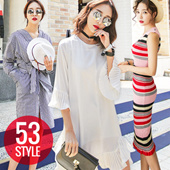 Bello dress / chiffon long dress / stripe / dot / mini dress / maxi dress / women's force UP! High quality / colorful flower pattern Wu of lovely atmosphere while the 溌刺 in