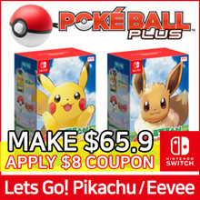 [Nintendo Switch] Pokemon Lets Go!! Pikachu / Eevee + Monster Ball Plus Pack