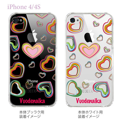 【Vuodenaika】【iPhone4/4Sケース】【カバー】【スマホケース】【クリアケース】【フラワー】 21-ip4-ne0004caの画像