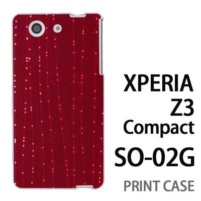 XPERIA Z3 Compact SO-02G 用『1210 ライン 赤』特殊印刷ケース【 xperia z3 compact so-02g so02g SO02G xperiaz3 エクスペリア エクスペリアz3 コンパクト docomo ケース プリント カバー スマホケース スマホカバー】の画像